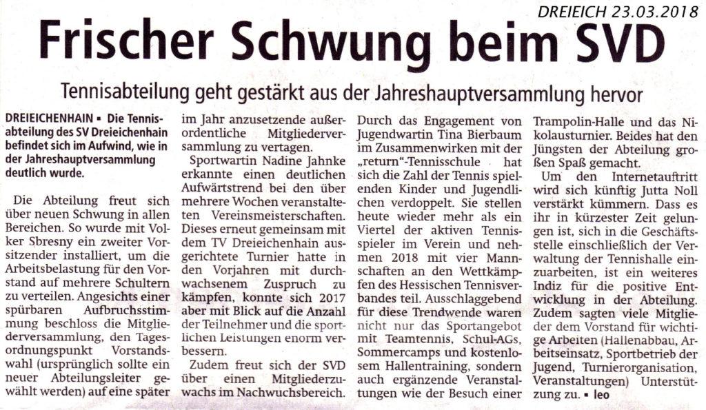 April — 2018 — SV 1890 Dreieichenhain e.V.